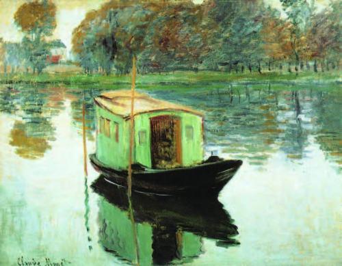 claude-monet-The-Studio-Boat-1874.