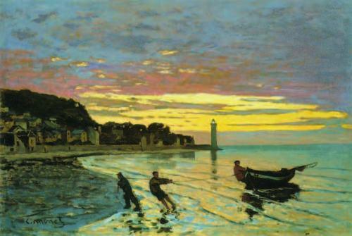 Claude-monet-Towing-a-Boat-Honfleur