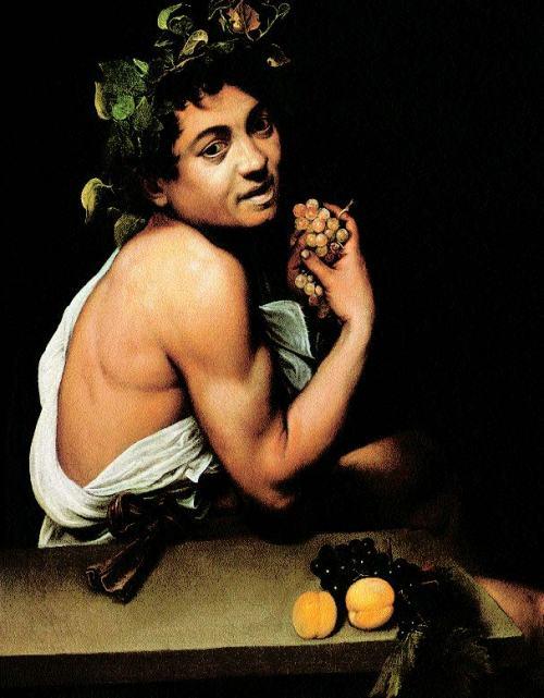 Caravaggio-Der-kranke-Bacchus-oder-Satyr-mit-Trauben