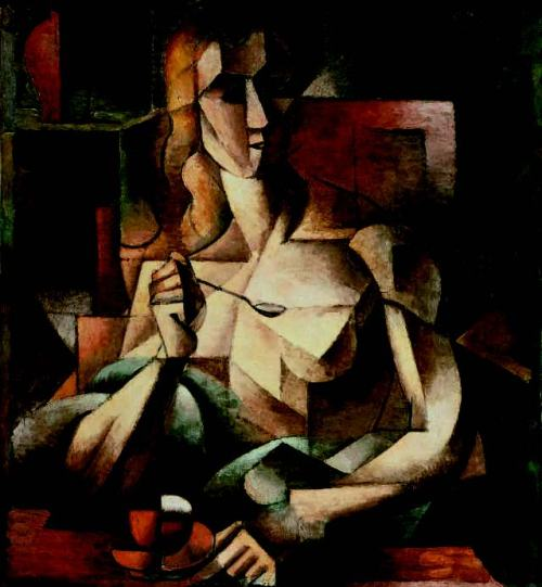 cubism-Jean-Metzinger-tea-Time-Woman-with-a-Teaspoon