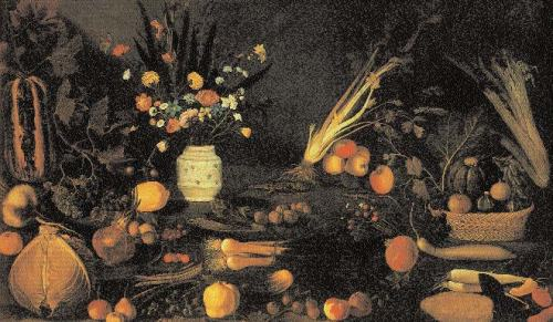 Caravaggio-Still-Life-with-flowers-and-fruits