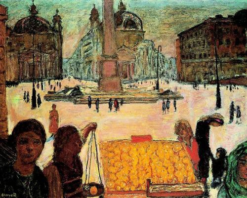 Pierre-Bonnard-La-Place-du-Peuple-à-Rome
