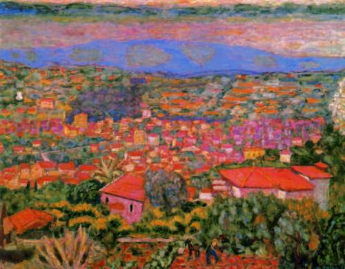 Pierre-Bonnard-Landscape-at-Le-Cannet-View-Over-the-Roof-tops