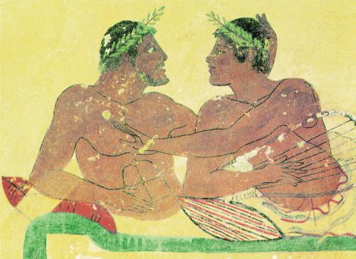 Peinture-grecque-représentant-un-couple