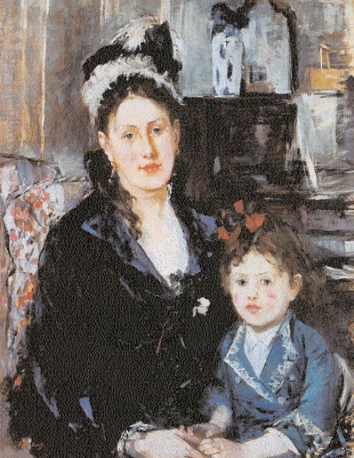 Berthe-Morisot-Portrait de-Mme-Boursier-et-de-sa-fille