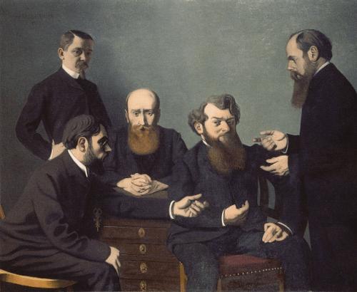 Die fünf Maler Bonnard, Vuillard, Roussel, Cottet, und Vallotton