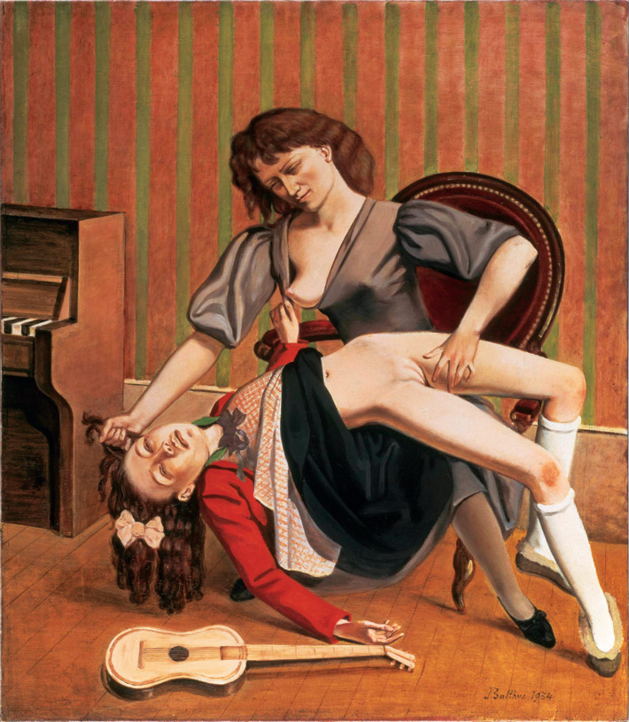 The Guitar Lesson – Balthus 1934