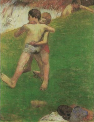 Gauguin - Bambini che lottano