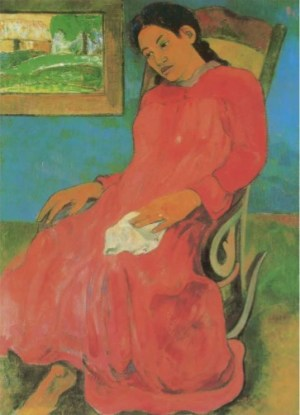 Gauguin - Faaturama (Donna in abito rosso o Il sogno)