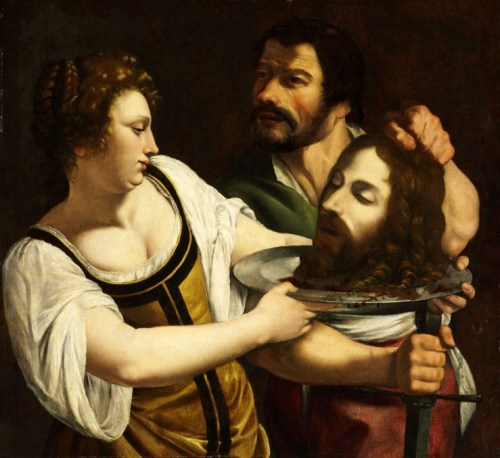 Salome with the head of St John the Baptist – Artemisia Gentileschi 1610-1615