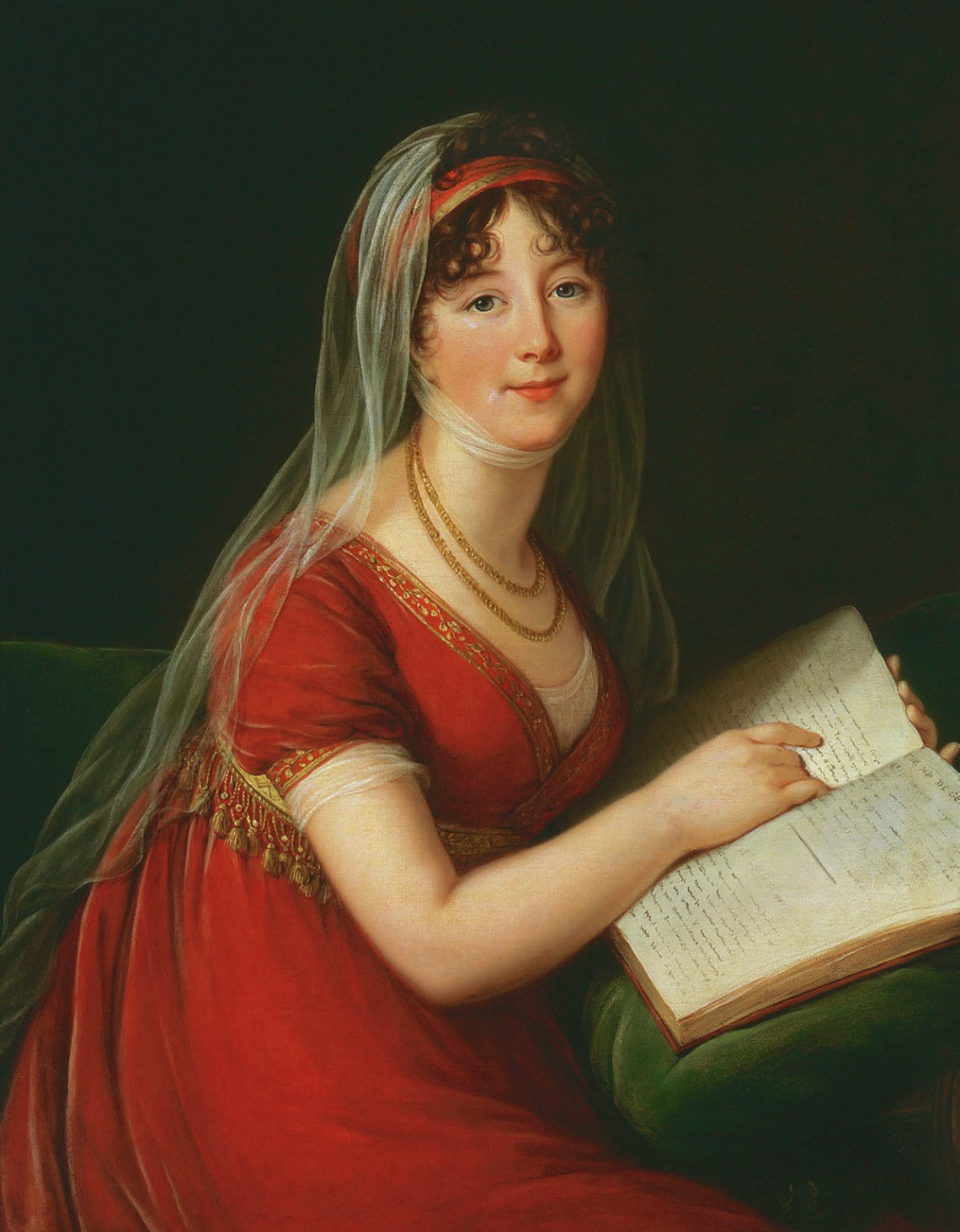 Portrait of Mrs Chinnery, 1803. Elisabeth Louise Vigée-Lebrun, W.H.Helm