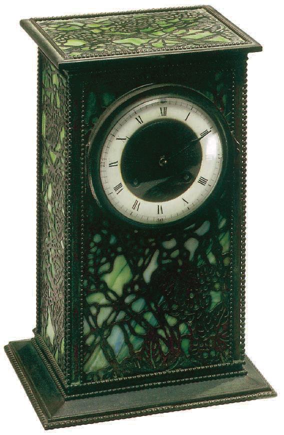 Finely Sculpted Bronze Clock, Tiffany, Charles De Kay
