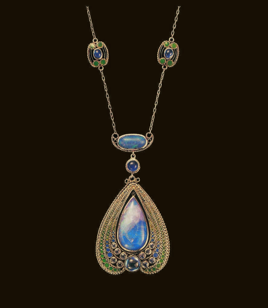 Collier orientaliste vers 1909, Tiffany, Charles De Kay