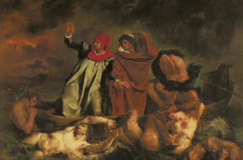 Dante und Vergil in der Hölle auch Die Dante-Barke, Eugène Delacroix, 1822, Apokalypse, Camille Flammarion