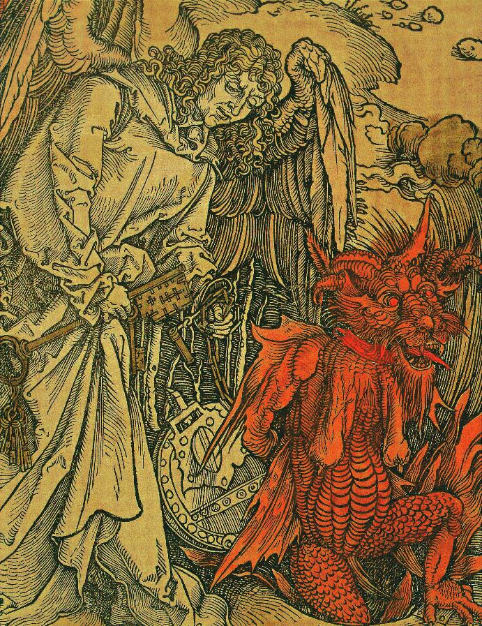 Die Apokalypse (Detail), Albrecht Dürer, 1498, Apokalypse, Camille Flammarion