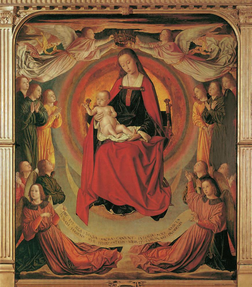 Die Madonna der Apokalypse, Jean Hey, 1480-1500, Madonnen, Klaus Carl
