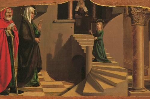 Presentation of the Virgin at the Temple, Nicolas Dipre, c.1500, Virgin Portraits, Klaus Carl