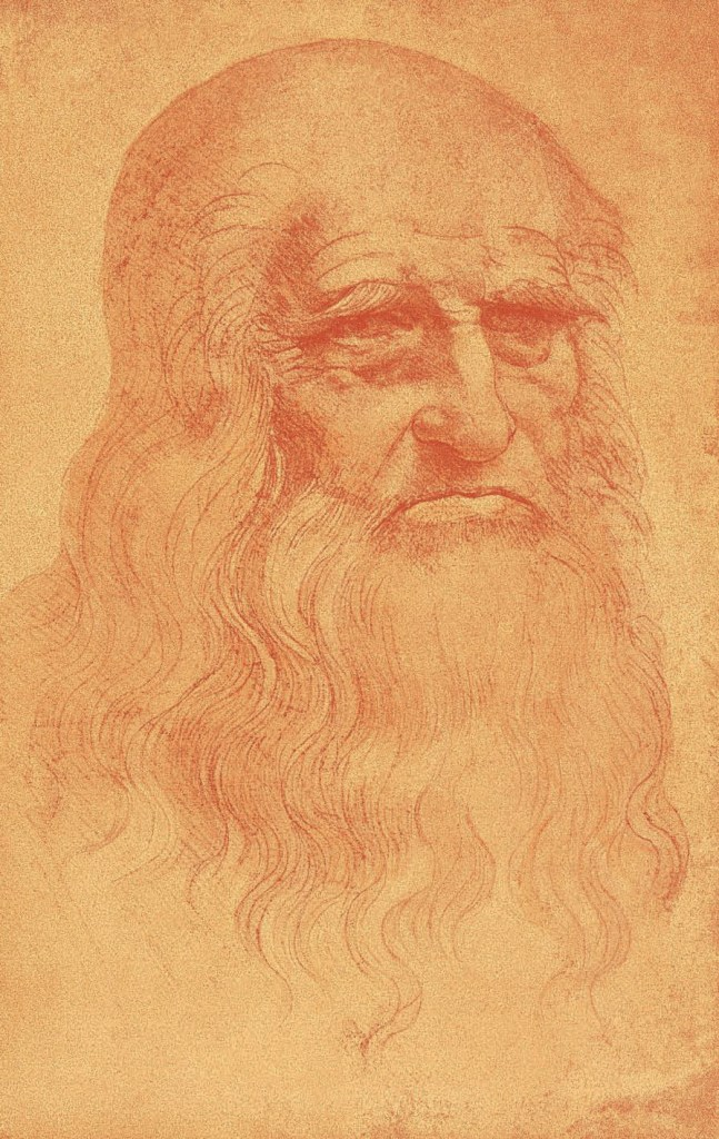 Self Portrait, c. 1512, Leonardo Da Vinci - Artist, Painter of the Renaissance, Eugène Müntz
