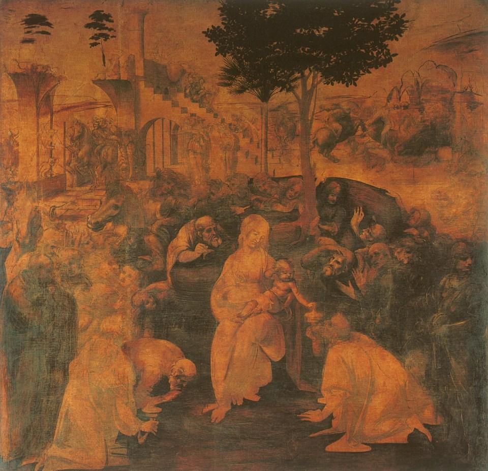L'Adoration des Mages, 1481-1482, Leonardo Da Vinci - Artiste, Peintre de la Renaissance, Eugène Müntz
