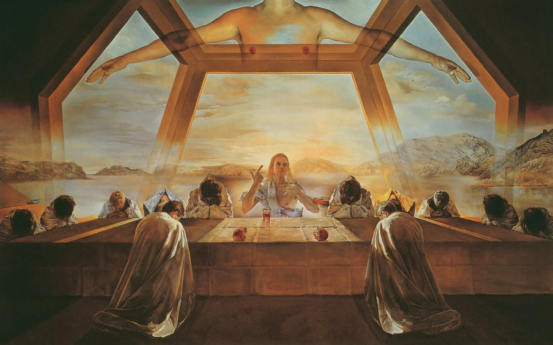 Salvador Dalí, The Sacrament of the Last Supper, 1955, Christ in art, Ernest Renan