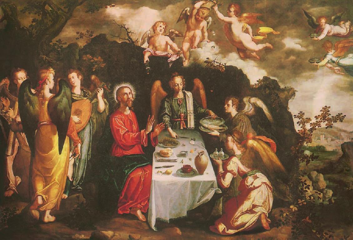 Francisco Pacheco, Christus von Engeln umgeben, 1616, Christus in der Kunst, Ernest Renan
