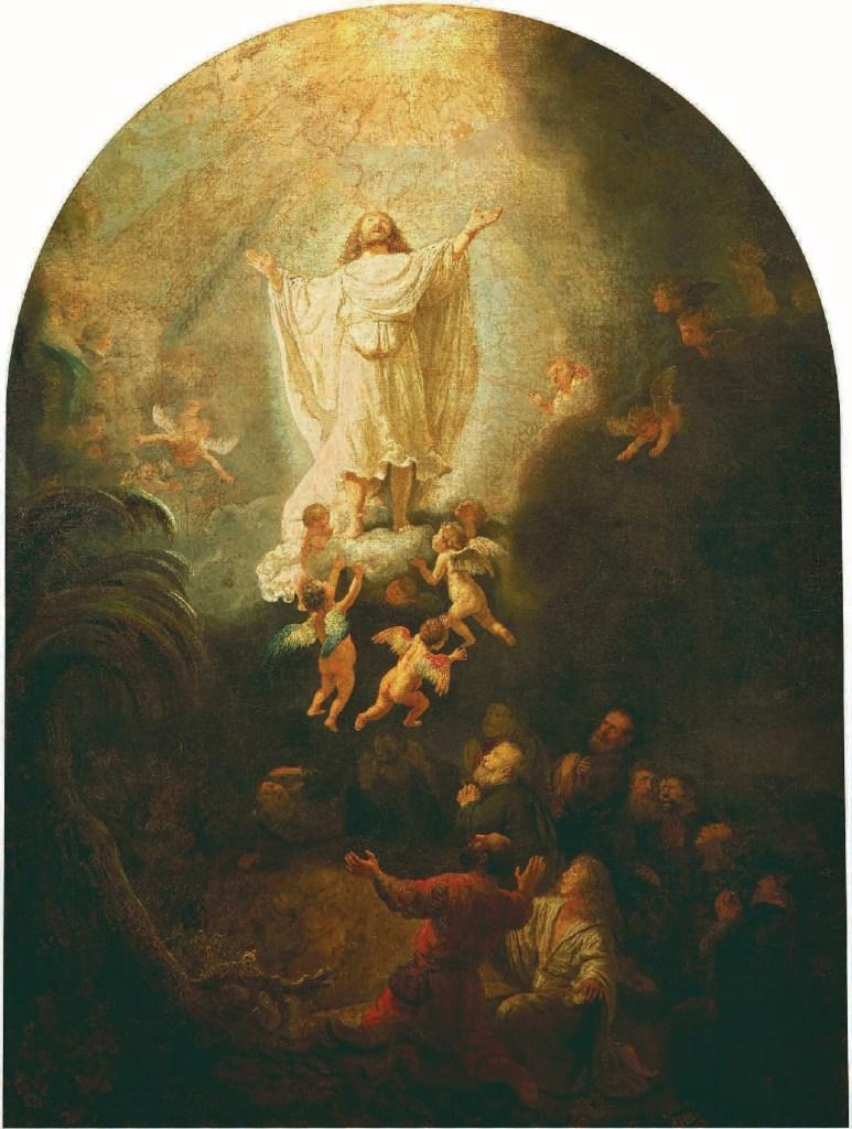 Rembrandt Harmensz. van Rijn, Die Himmelfahrt Christi, 1636, Christus in der kunst, Ernest Renan