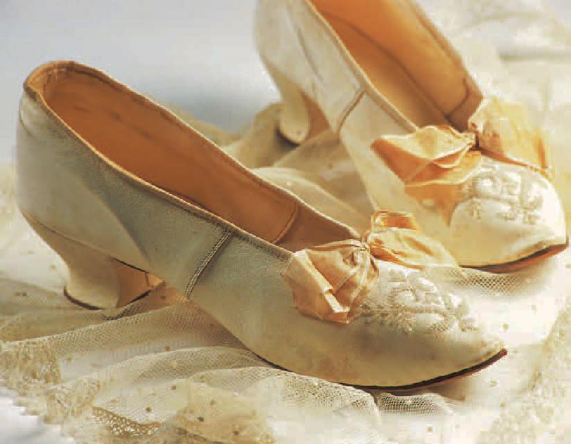 Chaussures de mariée, 1896, Chaussures, Marie-Josèphe Bossan