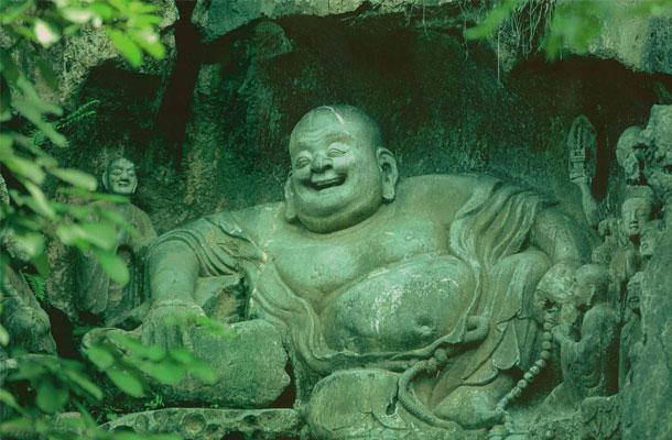 Bouddha riant, probablement Maitreya, 1000 Bouddhas of Génie, T.W. Rhys Davids Ph.D. LLD., Victoria Charles