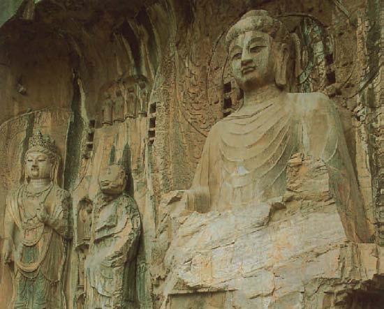 Sitzender Shakyamuni Buddha mit seinen Schülern und Bodhisattvas, 1000 Buddhas, T.W. Rhys Davids Ph.D. LLD., Victoria Charles