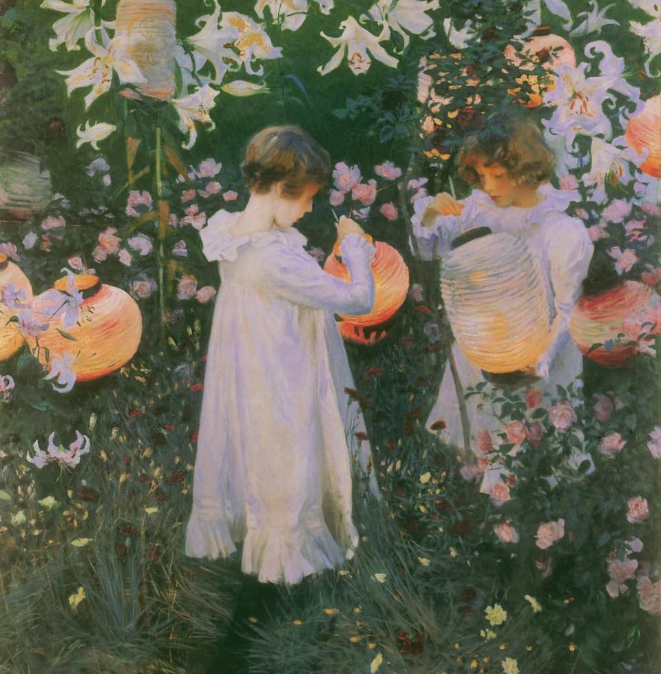Nelke, Lilie, Lilie, Rose von John Singer Sargent, Kleine Maedchen, Klaus H. Carl