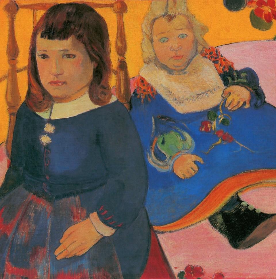 Double Portrait d'enfants par Paul Gauguin, Petites Filles, Klaus H. Carl
