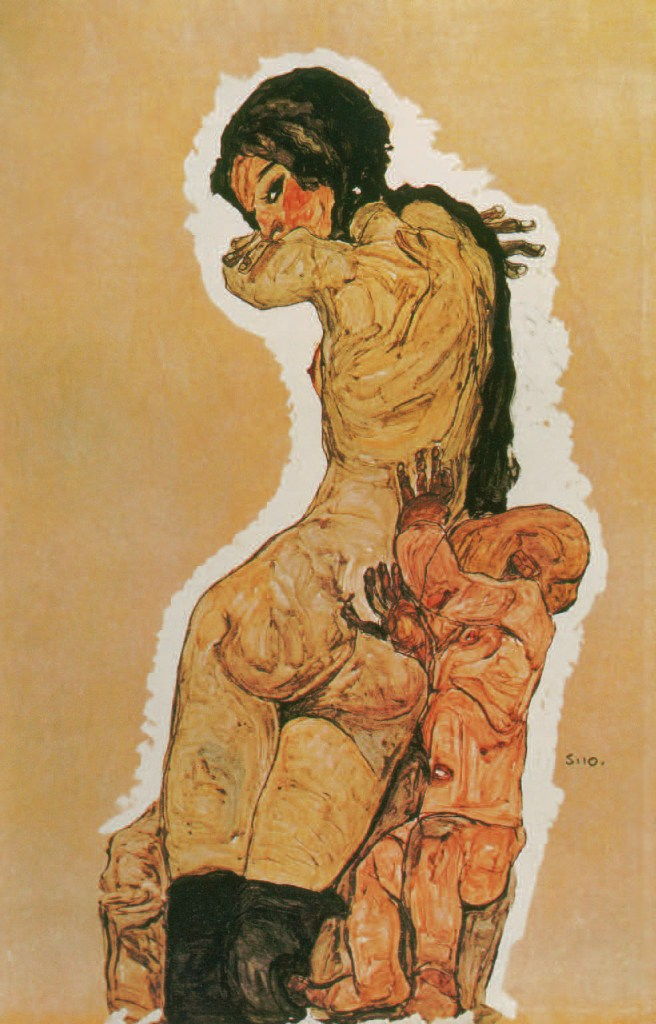 MOTHER AND CHILD, 1910, Egon Schiele