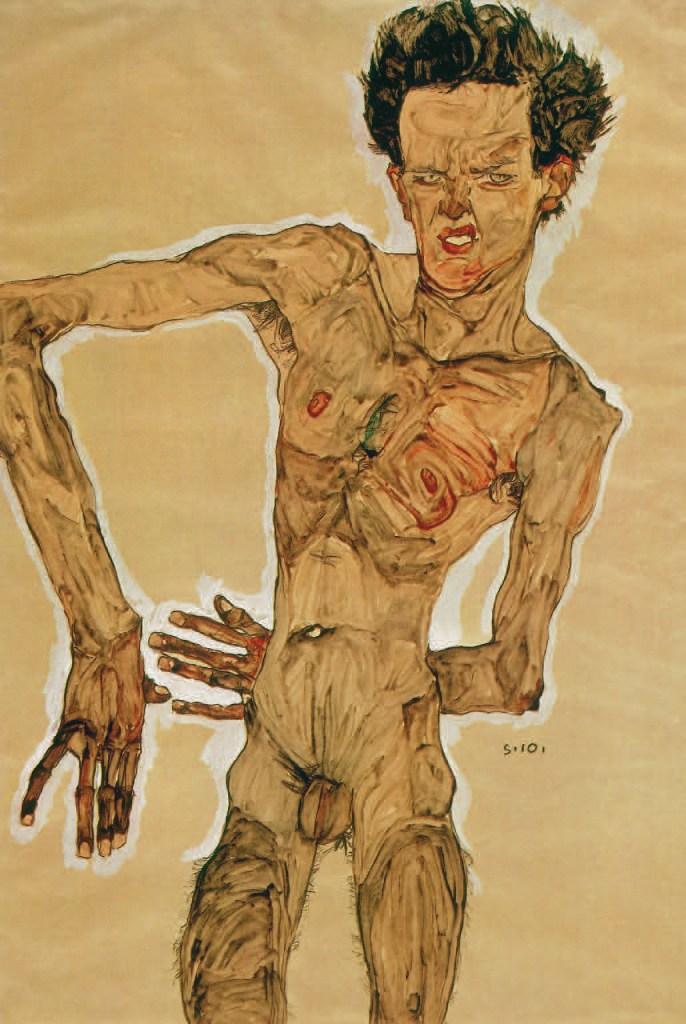 Nude Self-Portrait, Grimacing, 1910, Egon Schile