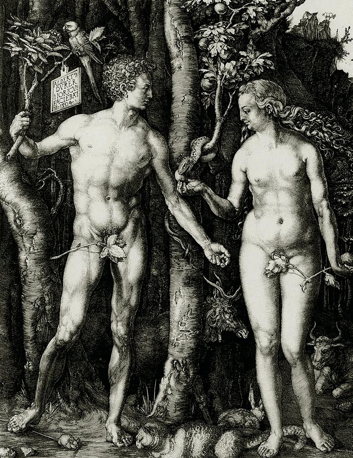 Adam and Eve, Albrecht Dürer, 1504, Love, Jp. A. Calosse