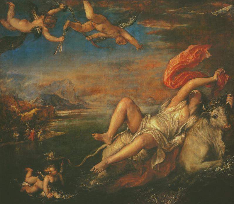 Europa, Titian (Tiziano Vecellio), 1559-1562, Love, Jp. A. Calosse