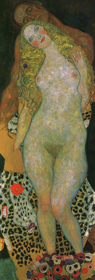 Adam et Ève, Gustav Klimt, 1917-1918, L'amour, Love, Jp. A. Calosse