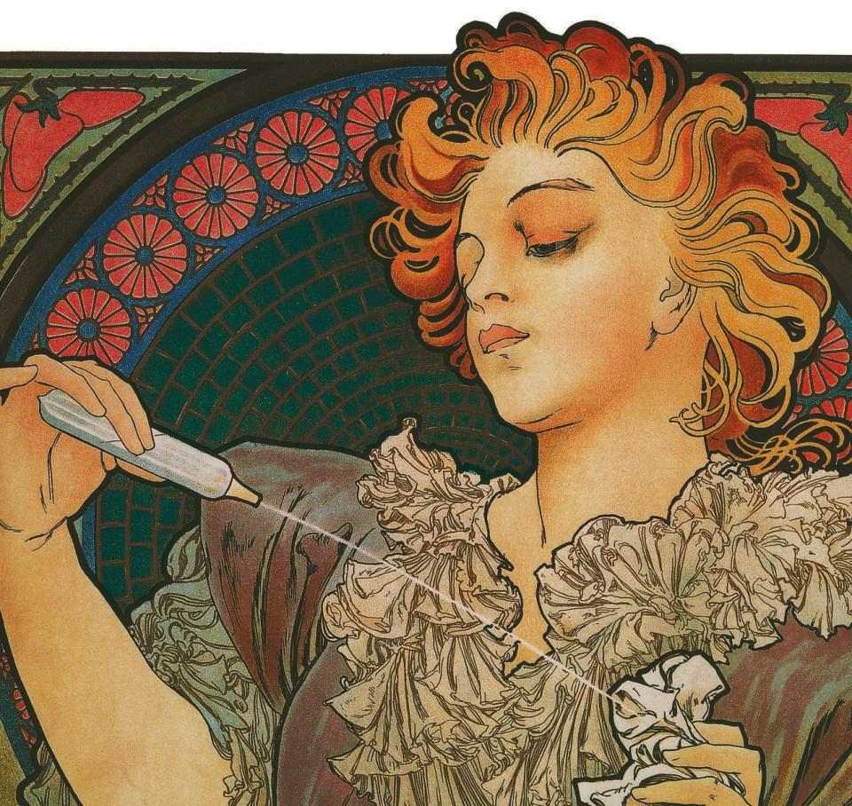 Lance Parfum Rodo (Detail), 1896, Alfons Mucha, Patrick Bade, Victoria Charles