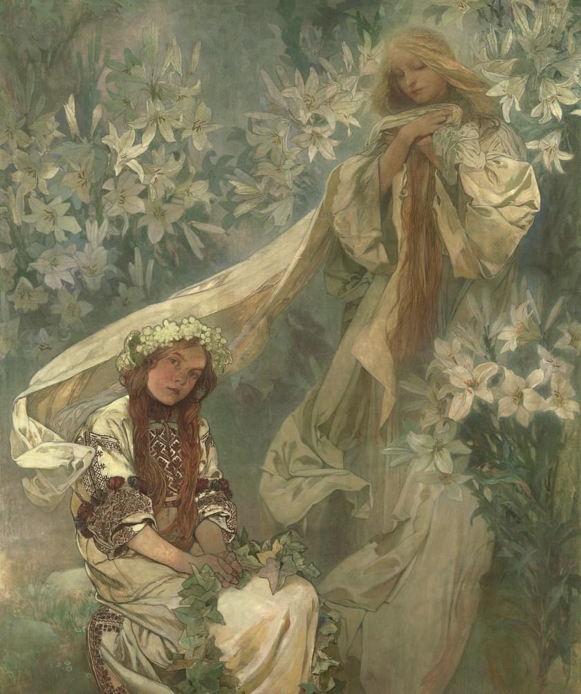 Madonna mit Lilien, 1905, Alfons Mucha, Patrick Bade, Victoria Charles