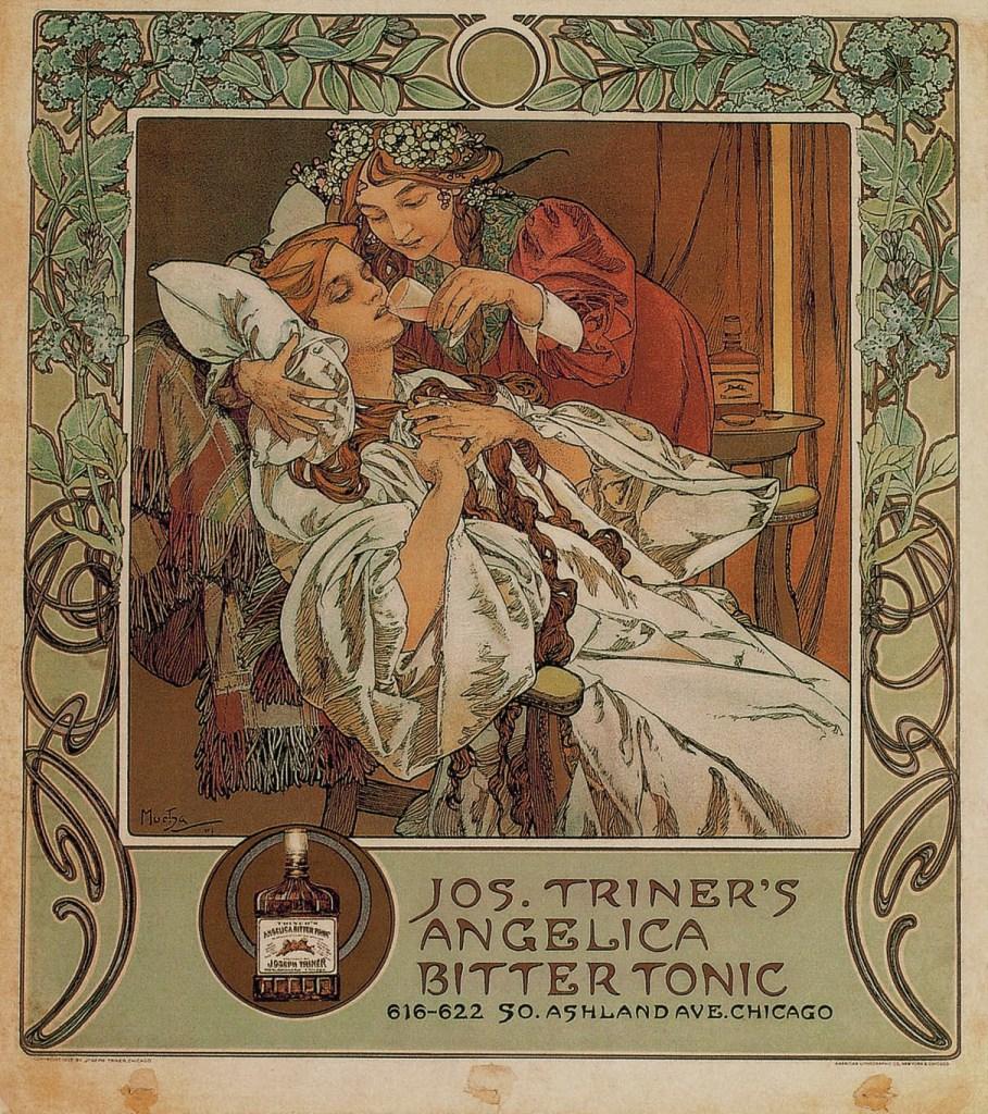 Jos. Triner's Angelica Bitter Tonic, 1907, Alphonse Mucha, Patrick Bade, Victoria Charles