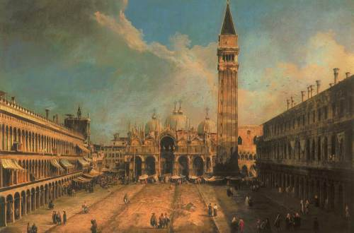 Venedig, Blick auf den Markusplatz, 1723
