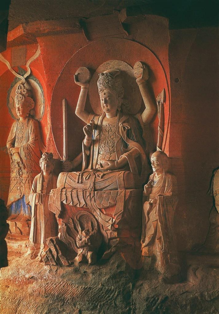Avalokites'vara, assis, avec six bras (Amoghapâúa, Bukongjuansuo Guanyin), dynastie Song du Sud, vers 1142-1146