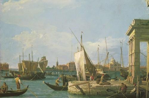 Antonio Canal, dit (il) Canaletto, La Pointe de la douane, vers 1724-1730