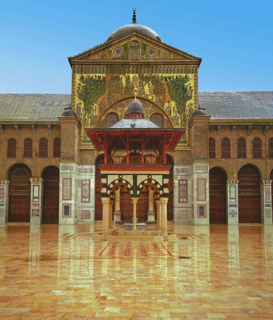Courtyard of the Great Mosque of Damascus, 706-715, The Book of Wonder, Marco Polo