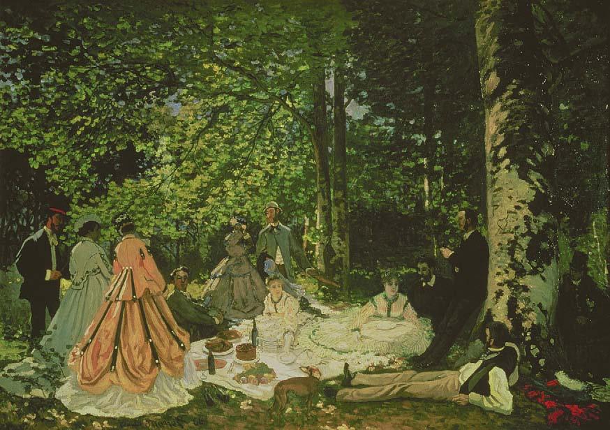 Claude Monet, Le Déjeuner sur l'herbe, 1866, Les Nabis, Albert Kostenevitch