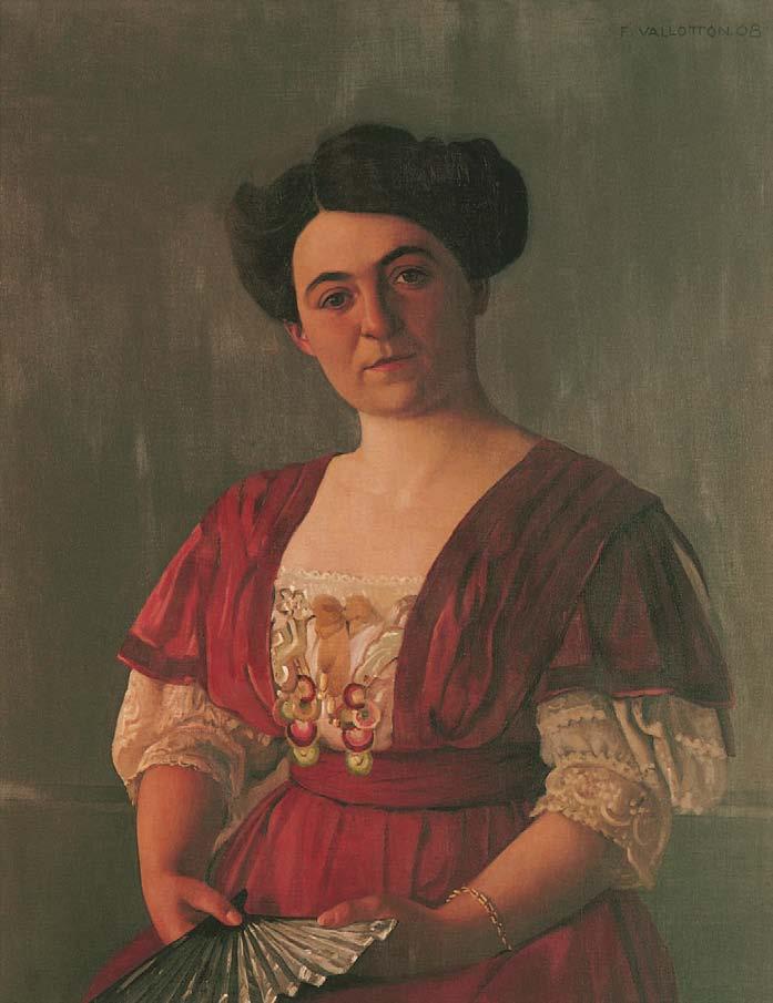 Félix Vallotton, Portrait de madame Haasen, 1908, Les Nabis, Albert Kostenevitch