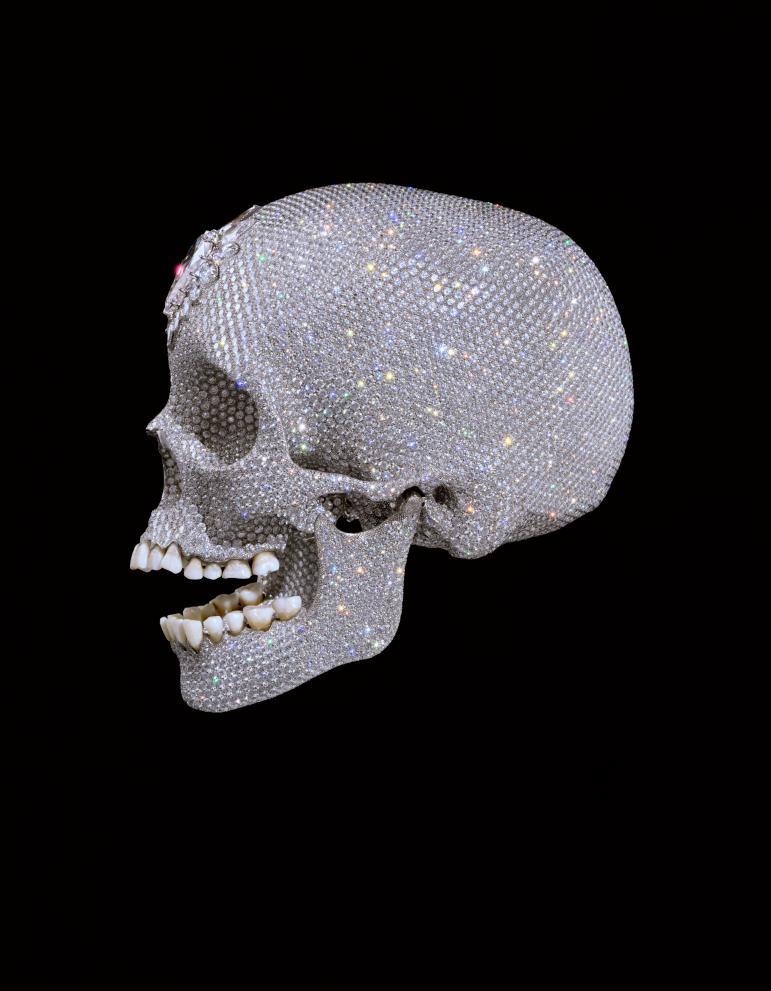 Pour l'amour de Dieu, 2007, Le mensonge de Cupidon, Damien Hirst