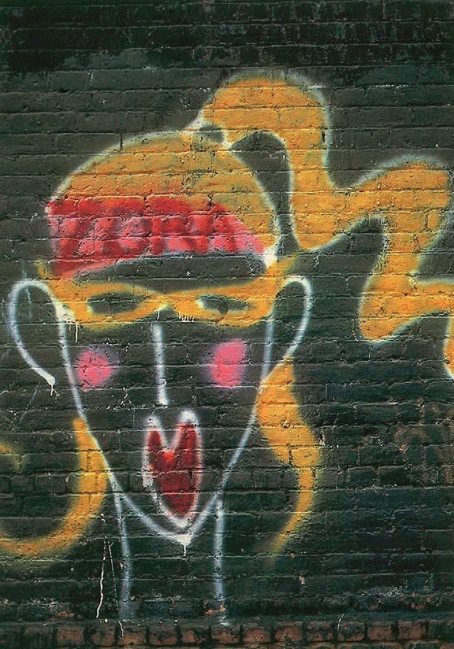 Unknown, date unknown. Aerosol paint on building, American Graffiti, Margo Thompson