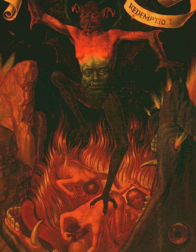 Hans Memling, Triptych of Terrestrial Vanity and Celestial Redemption (detail), c. 1490, Art of the Devil
