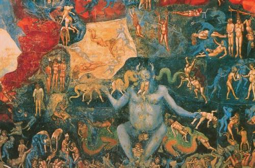 Das Jüngste Gericht (Detail), 1302-1305, Satan, Beelzebub, Luzifer - Der Teufel in der Kunst