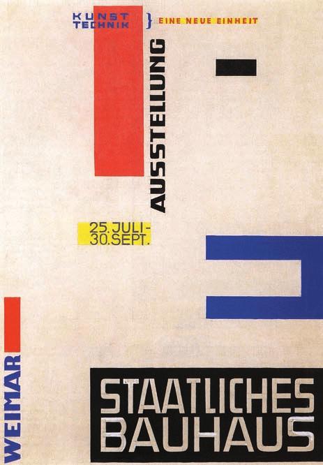 Herbert Bayer, projet pour l'affiche de l'exposition Bauhaus, 1923, Bauhaus, Michael Siebenbrodt, Lutz Schöbe